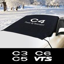 กระจกรถยนต์ป้องกันหิมะ Ice Block Sun Shade ฝาครอบกันน้ำสำหรับ Citroen C1 C3 C4 C5 C6 C ELYSEE VTS อัตโนมัติอุปกรณ์เสริม