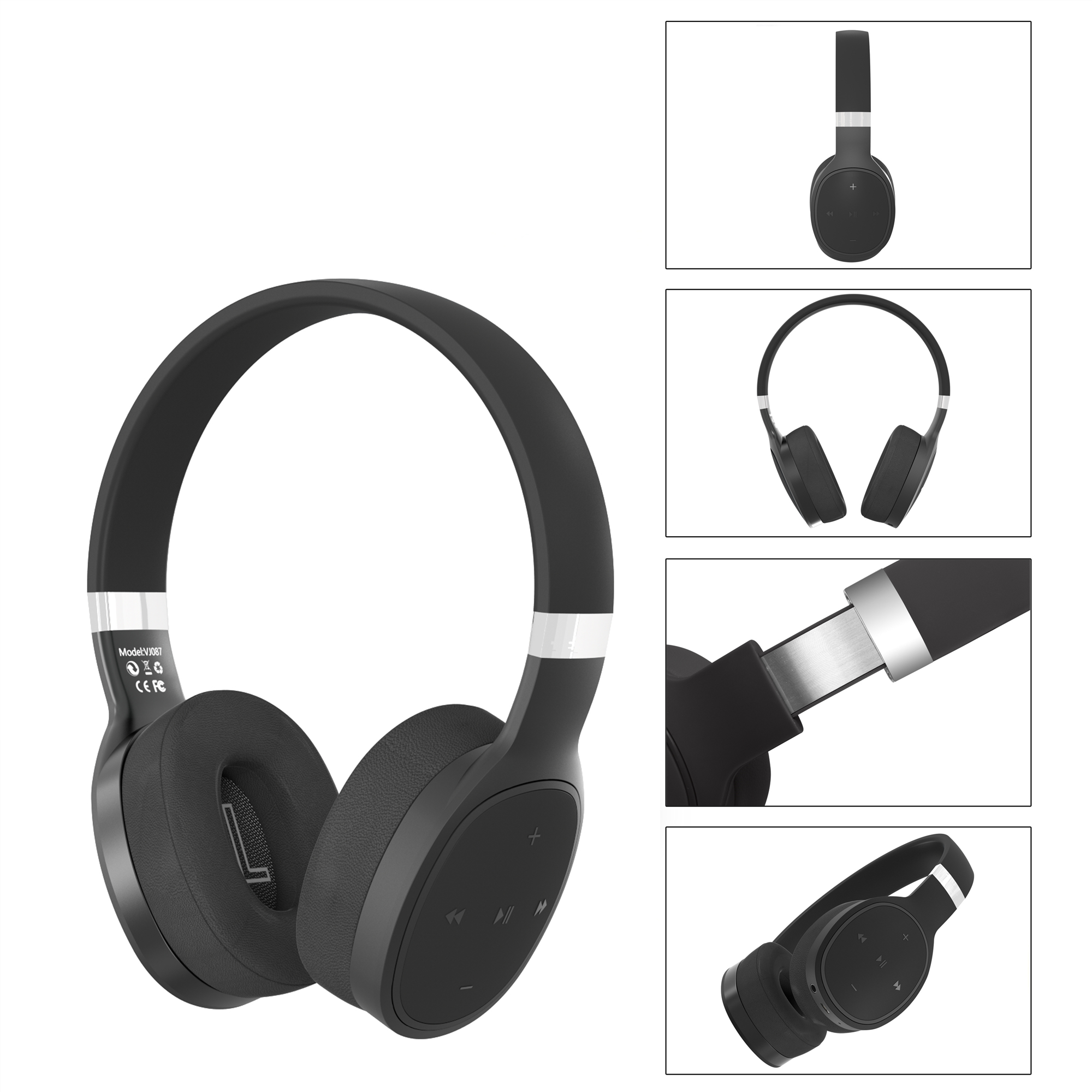 IKOLE Bluetooth 5.0 Wireless Over the Ear Headset Deep Bass Hi-Fi Stereo Sound with rubber, Comfortable to Wearing Headphone 4