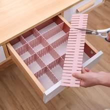 Séparateur de tiroir réglable en plastique, bricolage étagères de rangement, panneau de séparation à combinaison libre pour la maison, outils de Division permettant de gagner de l'espace