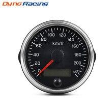Универсальный измеритель скорости 85 мм, 220 км/ч, с белой/янтарной подсветкой, 12 В, 24 В, с ЖК-дисплеем, для автомобилей, грузовиков, лодок, моторо...