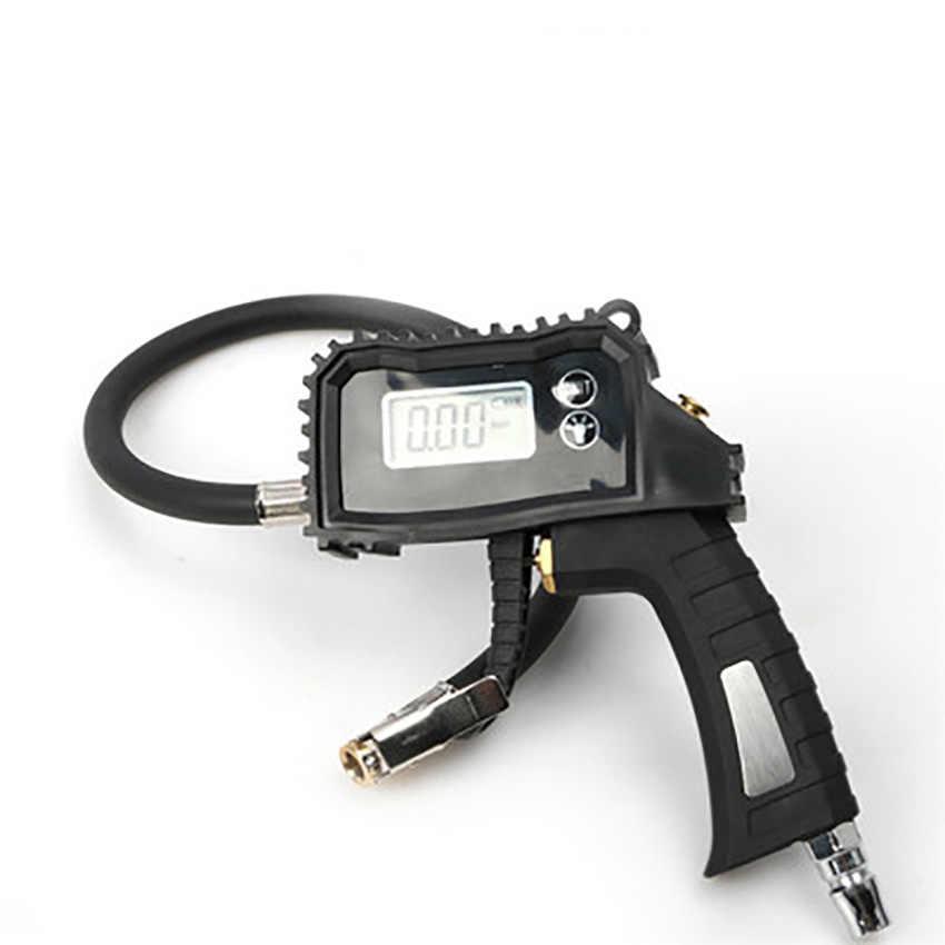 Samochód cyfrowy wyświetlacz wskaźnik ciśnienia w oponach manometr światła LED nadmuchiwane pistolet centrum zawór zwalniania powietrza narzędzia do naprawy auto