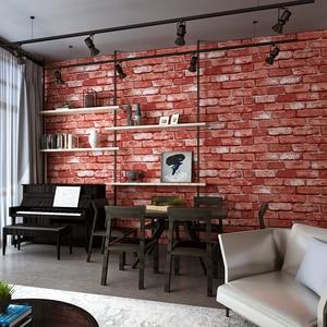 Image 2 - Nowoczesne klasyczne cegły teksturowane tapety na ścianach Decor tłoczone 3D rolki tapety do sypialni sofa do salonu TV tle