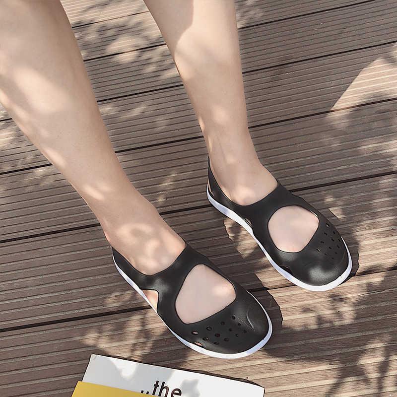 Phụ Nữ Làm Tắc Sữa Ong Chúa Giày Sandal Nhà Chống Trơn Trượt Mùa Hè Có Lỗ Nữ Phẳng Dép Nhựa Nữ Bé Gái Chống Nước Eva Sân Vườn giày