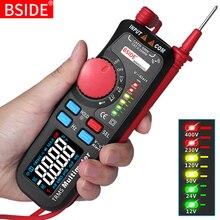 Multímetro de modo Dual, BSIDE 92CL pro voltímetro Digital, indicador de voltaje de pantalla a Color, capacitancia de corriente NCV Hz, probador de batería
