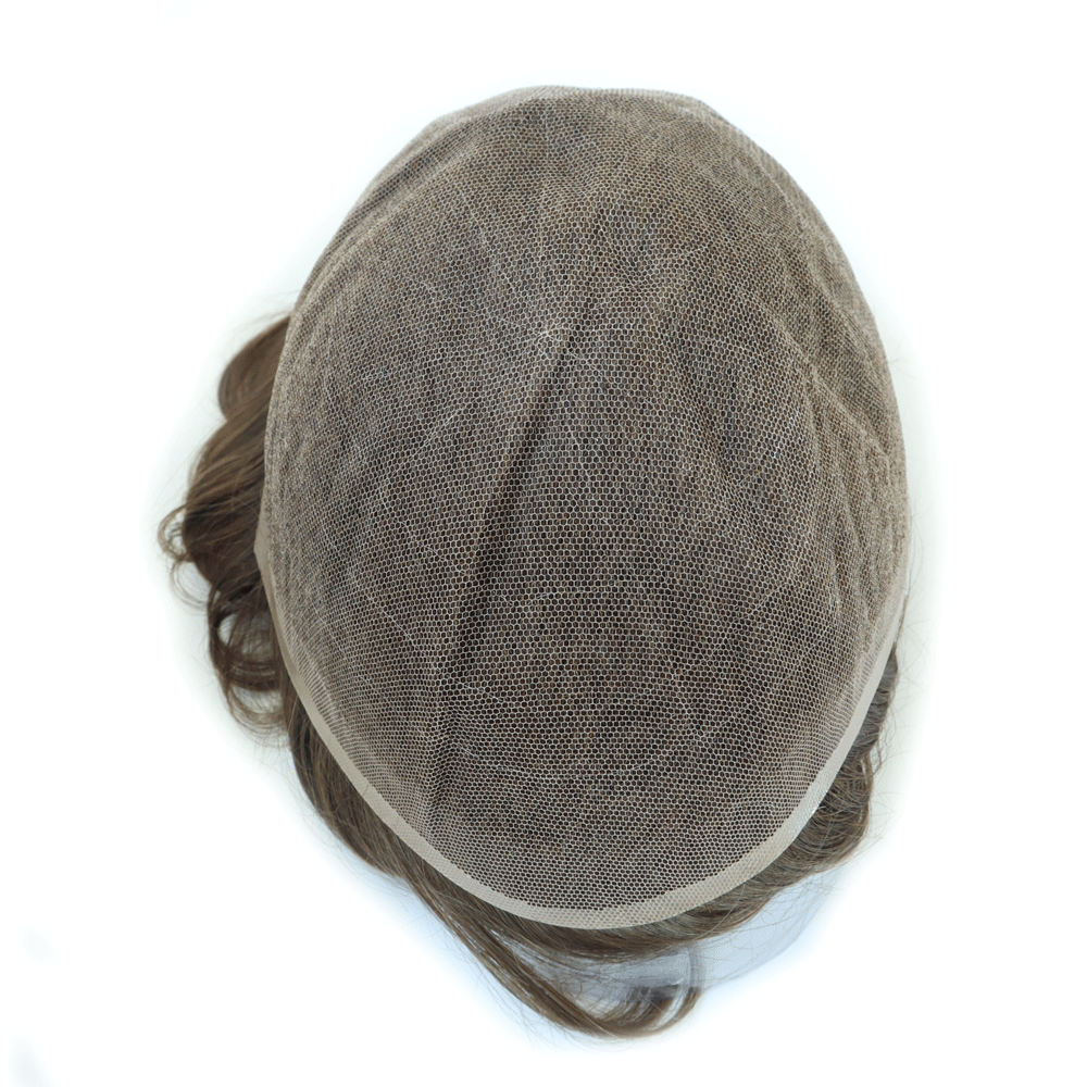 Clearance Sale Human Hair Men French Lace Toupee 6 Inch Men Hair Unit Indian Human Hair