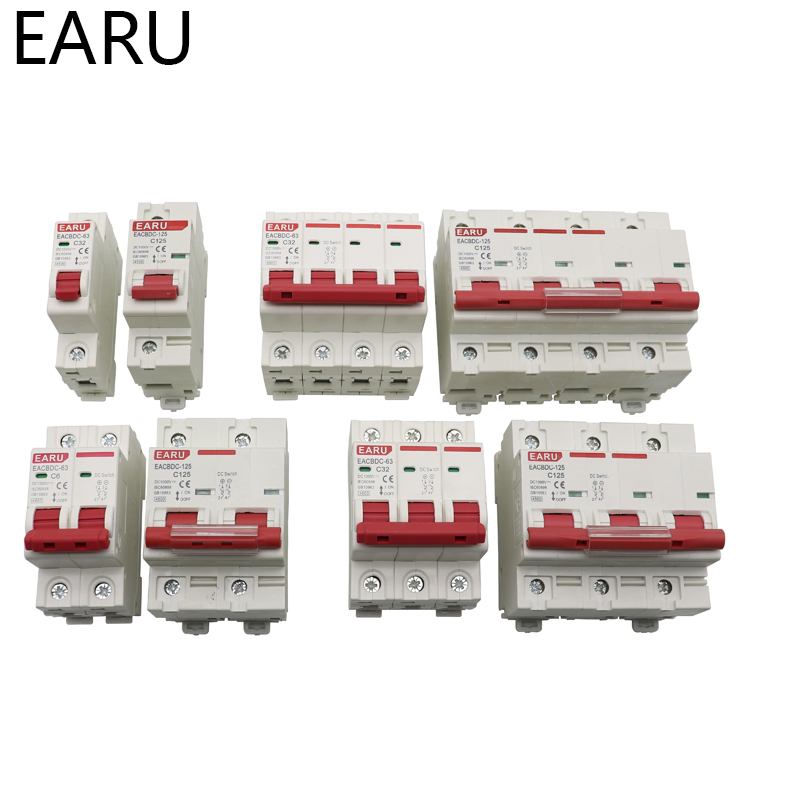 H17d4dc2b2037439eae27f7294801a106W - DC 1000V 1P 2P 3P 4P Solar Mini Circuit Breaker Overload Protection Switch6A~63A/80A 100A 125A MCB for Photovoltaic PV System