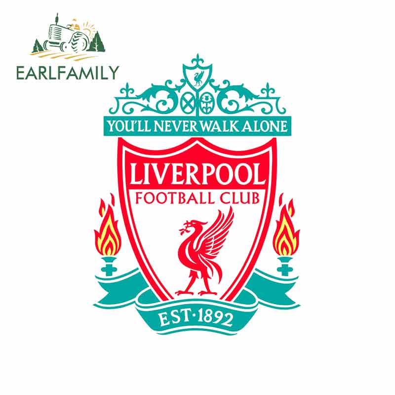 EARLFAMILY 13cm X 9.6cm For Liverpool Car Stickers And Decals Fashion Fine Decal DIY Occlusion Scratch Anime Waterproof