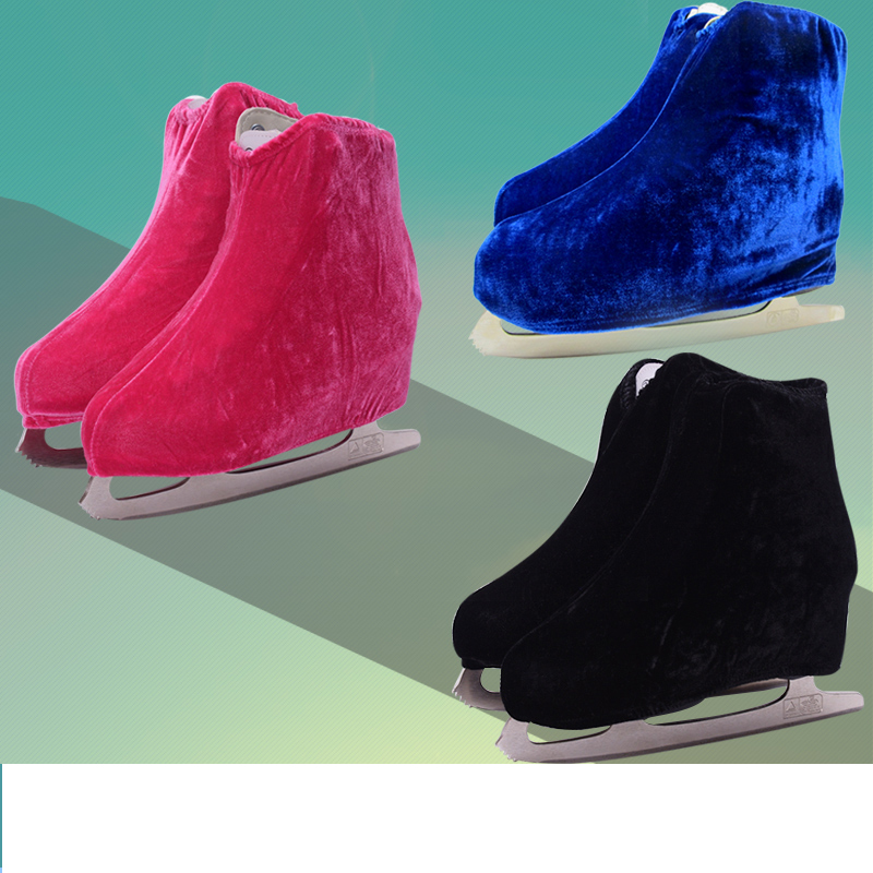 1 Pair Ice Skating Figure Skating Shoes Velvet Cover Roller Skate Anti Dirty Flannelette Elastic For Kids Adult Anti Grinding