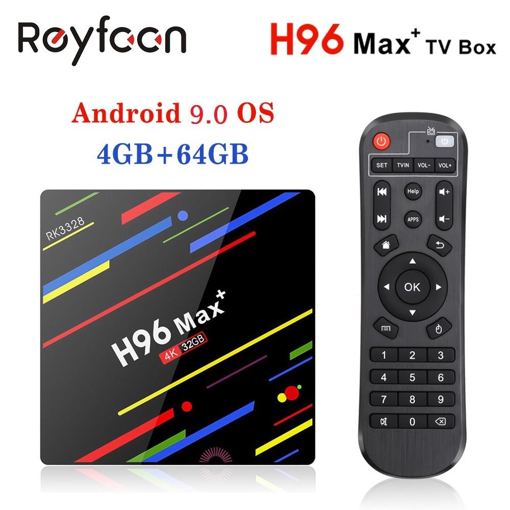 TV BOX H96 MAX PLUS Android 9.0 4GB 64GB Rockchip RK3328 Support 1080p 4K Google Play Store Netflix Youtube 16GB 32GB Smart Box
