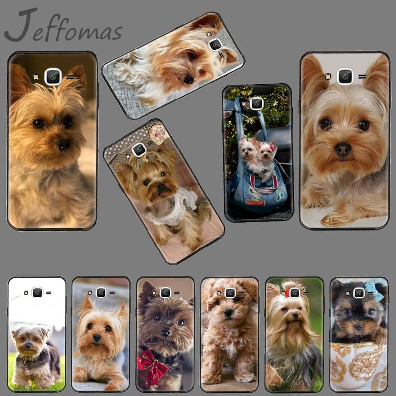animal Mini Yorkshire Terrier <font><b>Dog</b></font> Black Phone <font><b>Case</b></font> For <font><b>Samsung</b></font> Galaxy J2 J4 J5 J6 <font><b>J7</b></font> J8 2016 2017 2018 Prime Pro plus Neo duo image