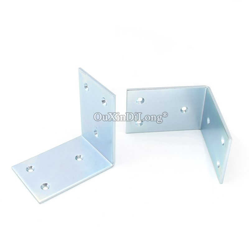 NEW 6PCS Metal Right Angle Corner Braces L Shape Furniture Connecting Fittings Frame Board Shelf Support Brackets 3.2X60X90X90mm