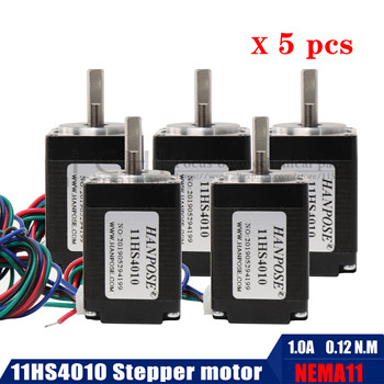 5PCS 11HS4010  NEMA11 Stepper Motor 0.12N.m 4 wires for new CNC router 1.8 Degree