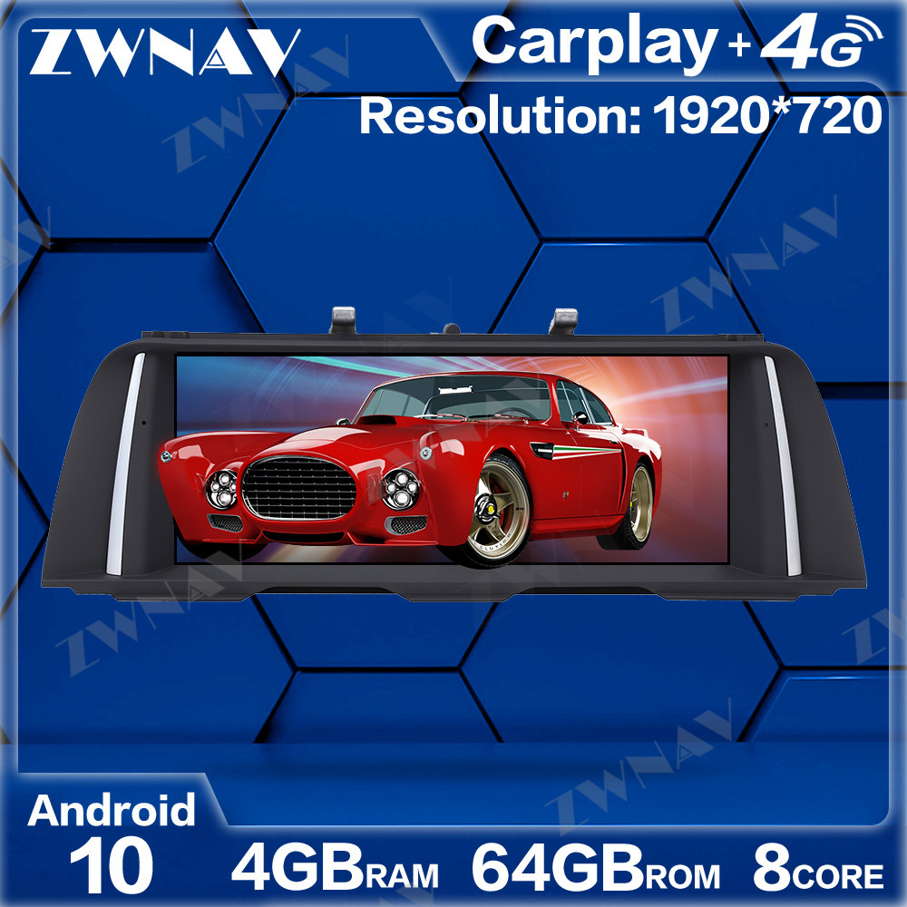 4GB+64GB <font><b>Android</b></font> 10.0 Car Multimedia Player For <font><b>BMW</b></font> 5 Series <font><b>F10</b></font> F11 2013-2016 GPS Navi Radio navi stereo Touch screen head unit image