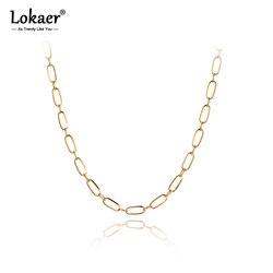 Collier à pendentif en chaîne et lien tendance pour femmes et filles, en titane, en acier inoxydable, hip-hop/Rock, N20041