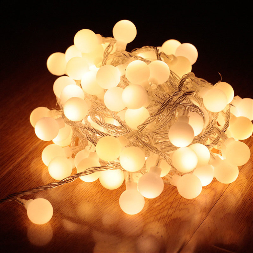 10m led tiras de luz usb 80 lâmpadas redondas iluminação quente romântico barraca acampamento festa em casa decorar atmosfera pendurado luz da corda