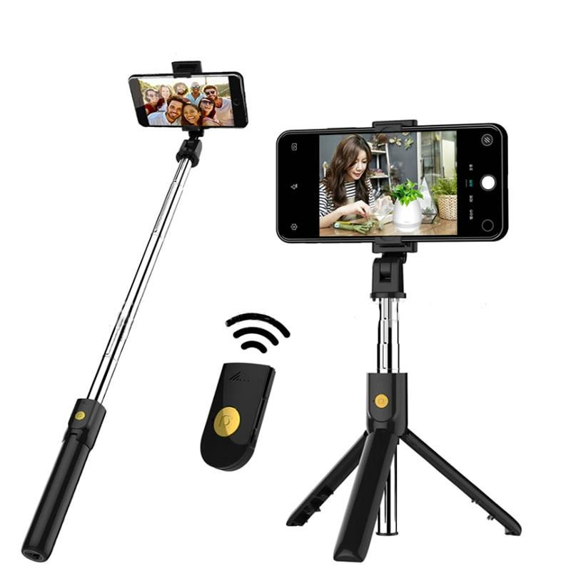3 In 1 Wireless Bluetooth Selfie Stick Foldable Handheld Monopod Shutter Remote Extendable Mini Tripod Pet Selfie Stick