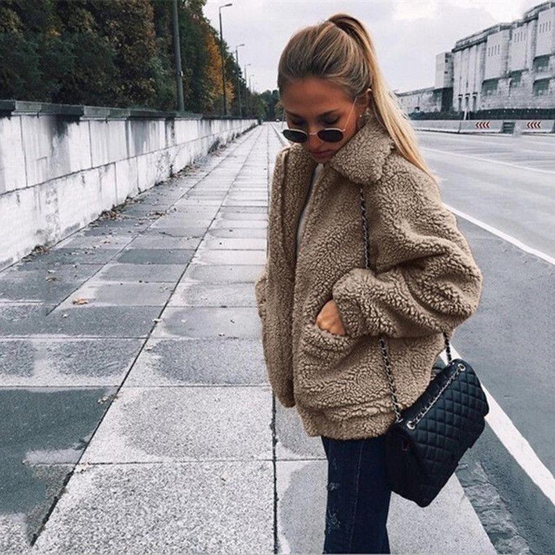 H17d5f5b182524babb9c1273160f7ff76a Autumn Winter Faux Fur Coat Women 2020 Casual Warm Soft Zipper Fur Jacket Plush Overcoat Pocket Plus Size Teddy Coat Female XXXL