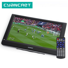 LEADSTAR D12 pollici HD TV Portatile DVB T2 ATSC ISDB T tdt Digitale e Analogico mini piccola Auto Televisione Supporto USB SD carta di MP4 AC3