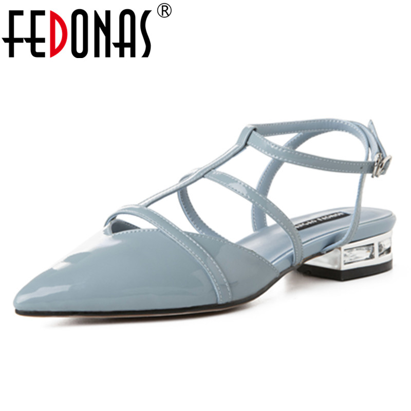 FEDONAS Concise Buckle Pumps Women Spring Autumn Four Season Genuine Leather High Heeled Breathable Casual Party Shoes Woman