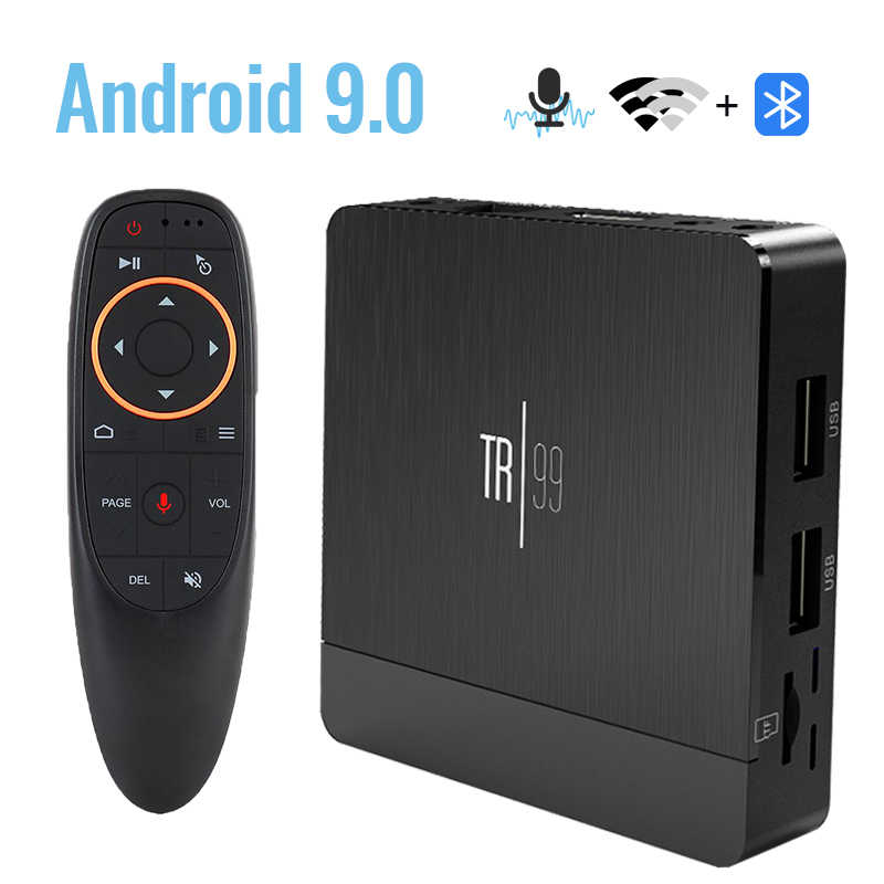 Transpeed TR99 Android 9.0Smart TV Box Google Voice Trợ Lý Amlogic S905X2 4GB Wifi Bluetooth 4K 3D Bộ top Box IPTV