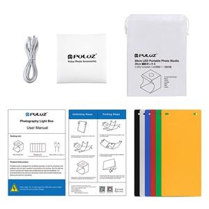 Image 5 - Portable pliant Lightbox photographie Photo Studio Softbox 2 lumière LED boîte souple Photo fond Kit boîte lumineuse pour appareil Photo reflex numérique