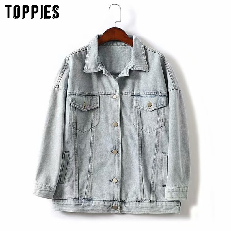 Jean Jacket Vintage Classic Denim Coat Women Loose Button  Basic Jacket Fashion Streetwear 2020
