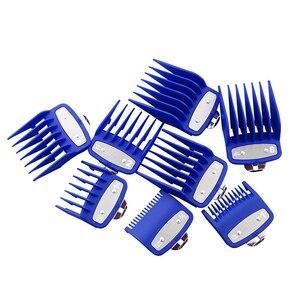 Image 4 - אוניברסלי זהב גלוון חשמלי שיער קליפר מסרק גבול מדריך מצורף 8 חתיכה שיער קליפר קליפר אבזרים