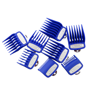 Image 4 - Universal gold electroplating electric hair clipper limit comb Guide Attachment 8 piece hair clipper caliper accessories