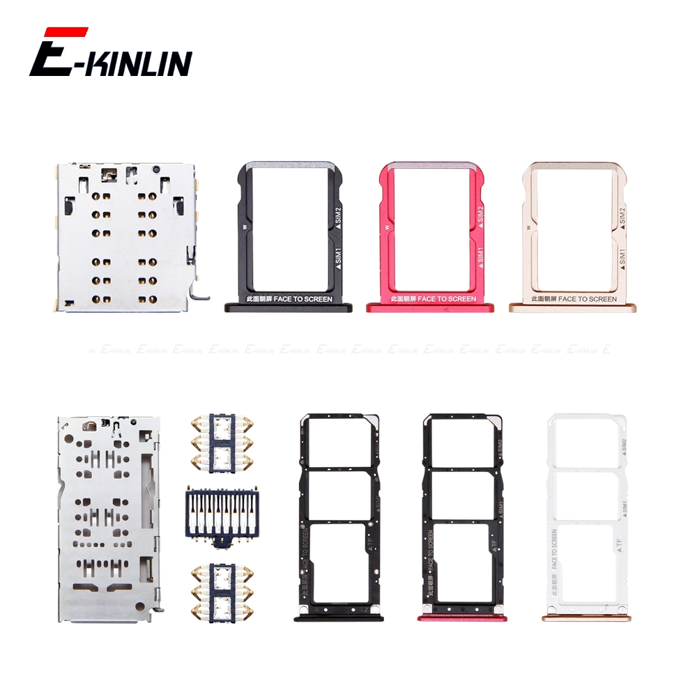 Sim Micro SD Card Socket Holder Slot Tray Reader For XiaoMi Mi A2 Lite 6X Adapter Container Connector Replacement Parts