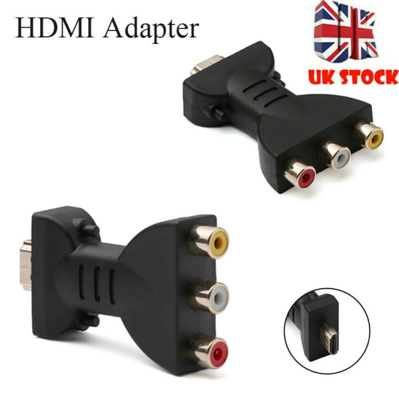 2020 HDMI To 3 RCA Video Audio AV Adapter Component Converter For HDTV DVD Projector Digital Cables