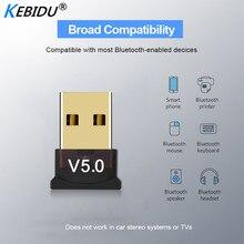 Kebidu Mini BT 5,0 адаптер USB ключ беспроводной USB Bluetooth передатчик 5,0 музыкальный приемник Bluetooth адаптер для компьютера ПК