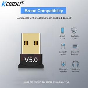 Image 1 - Kebidu Mini BT 5.0 Adapter USB Dongle Wireless USB Bluetooth Transmitter 5.0 Music Receiver Bluetooth Adapter For Computer PC