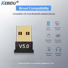 Kebidu adaptador Mini BT 5,0, Dongle USB, transmisor inalámbrico USB, Bluetooth 5,0, receptor de música, adaptador Bluetooth para ordenador y PC