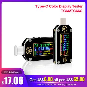 RD TC66 TC66C typu C wyzwalacz PD USB-C woltomierz amperomierz napięcie 2 way miernik prądu multimetr PD ładowarka USB Tester tanie i dobre opinie Elektryczne Digital Only 49mmx22mmx8mm 0 005V-30 0000V 0-5 00000A 0 0001V 0 00001A 0 96 Inch color IPS display 0-99999mAh