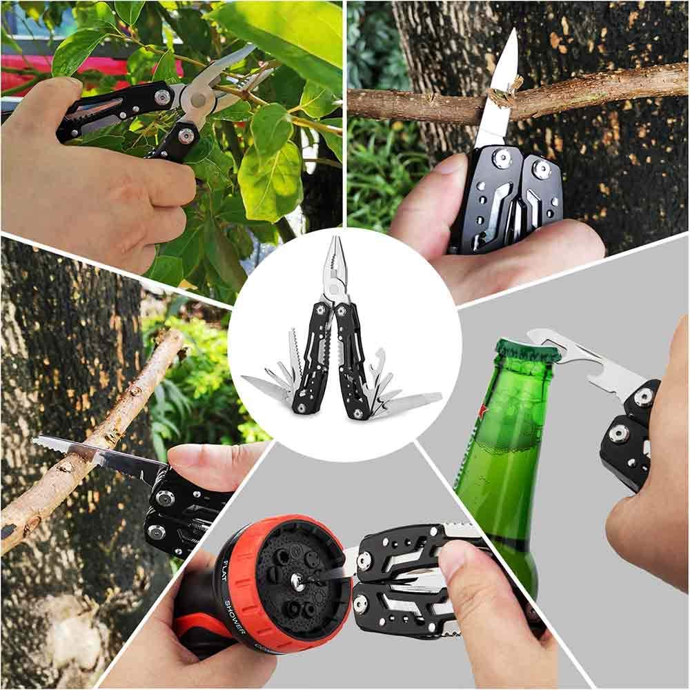 14-In-1 Outdoor Camping Survival Multi Tool Pliers Versatile Repair Folding Screwdriver Grip Pliers EDC Gear Hunting Hiking