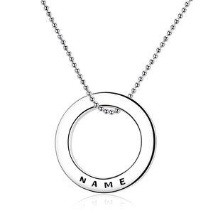 Image 1 - Collier en argent Sterling 925 avec cercle personnalisé personnalisation collier nom gravé cadeau saint valentin