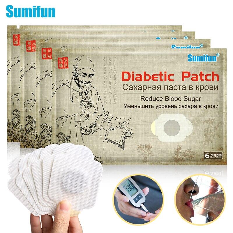 Sumifun 6/18/30 шт. содействия к диабет нашивки на основе китайской медицины наклейки прибор для измерения уровня сахара в крови, пластырь для диаб...