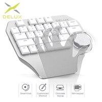 Delux t11 designer teclado com discagem inteligente 3 grupo personalizável chaves teclado compatibilidade para wacom windows mac software de design