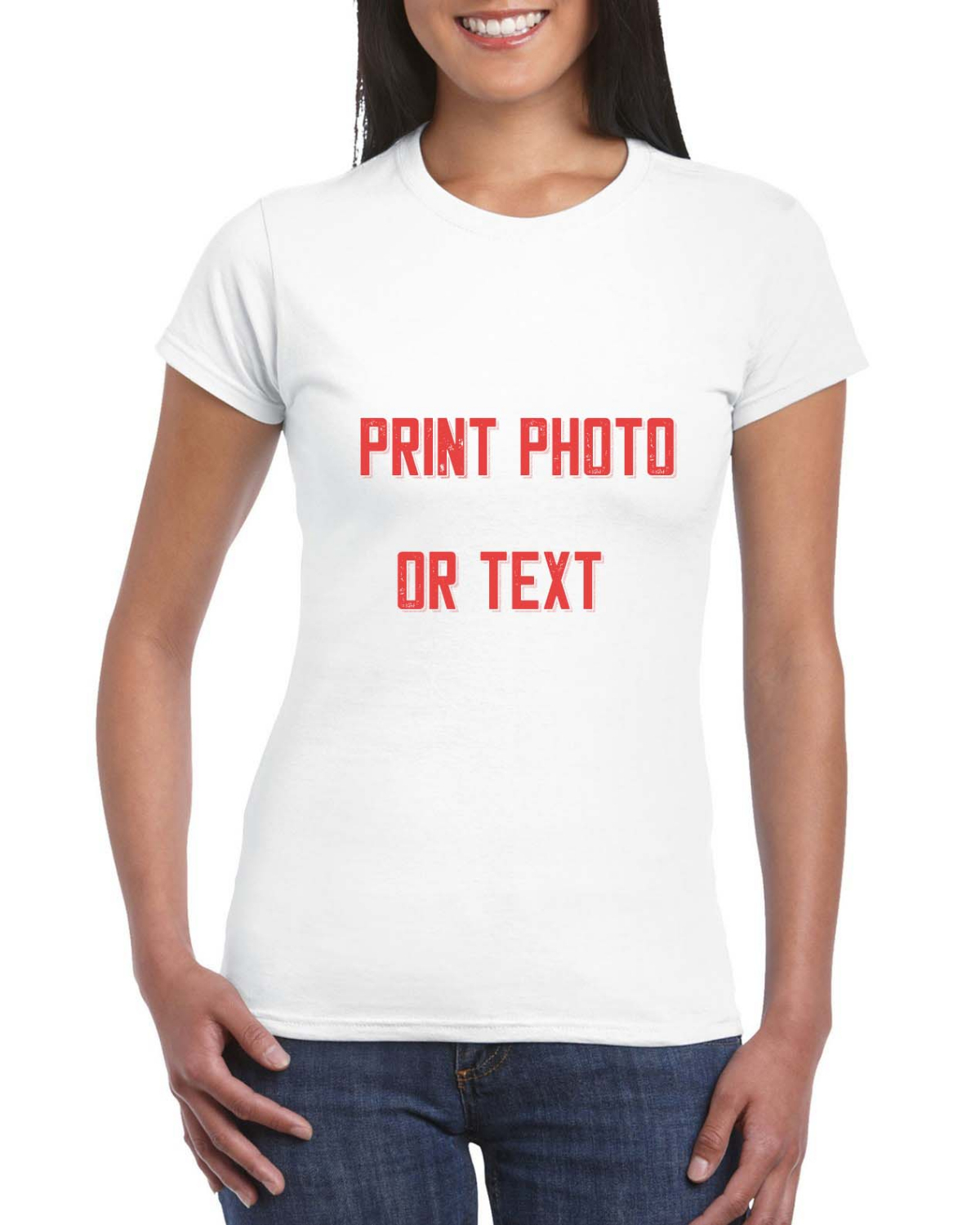 Custom Women's Fitted T Shirts Ultra Soft Add Your Text For Women Premium Cotton T Shirt