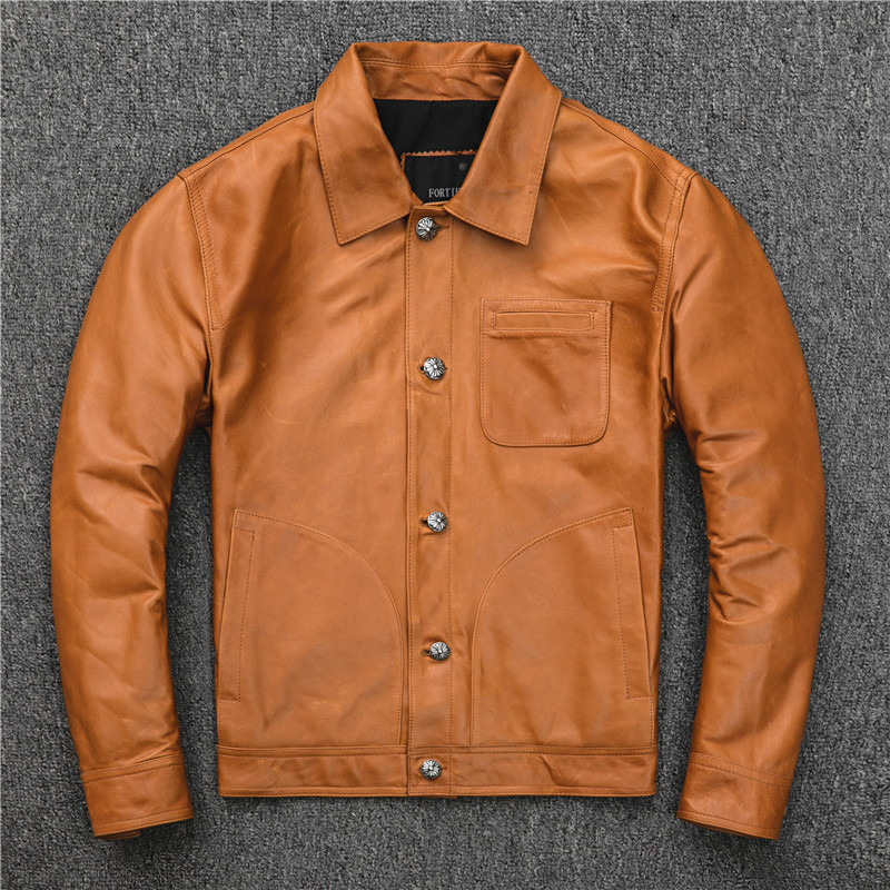 Real Leather Jacket Men Clothes 2020 Casual Sheepakin Coat Genuine Leather Jackets And Coats Korean Slim Fit KJ2910