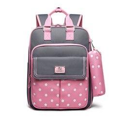 Wysokiej jakości plecak szkolny dla dzieci w kropki plecak szkolny dla dziewcząt plecak dziecięcy torba na książki dla dzieci zestaw uroczy piórnik