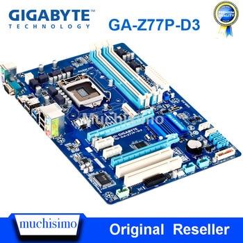 Gigabyte GA-Z77P-D3 Motherboard LGA1155 DDR3 USB3.0 32G Z77 Z77P-D3 Z77P D3 Desktop Original Used Mainboard SATA3 Work Steady
