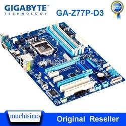 Gigabyte GA-Z77P-D3 placa base LGA1155 DDR3 USB3.0 32G Z77 Z77P-D3 Z77P D3 escritorio Original placa base usada SATA3 trabajo estable