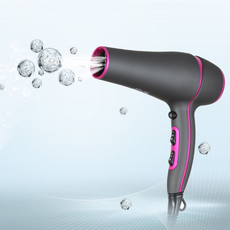 Professional High Power Hair Dryer Heat Blower with Collecting Nozzle Diffuser for Home Salon Use