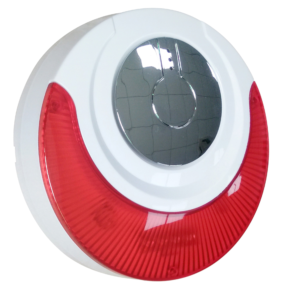 Focus MD-214R Wireless Internal Siren With 110dB Big Sounds Strobe Flash Siren With Rechargeabe Lithium Battery