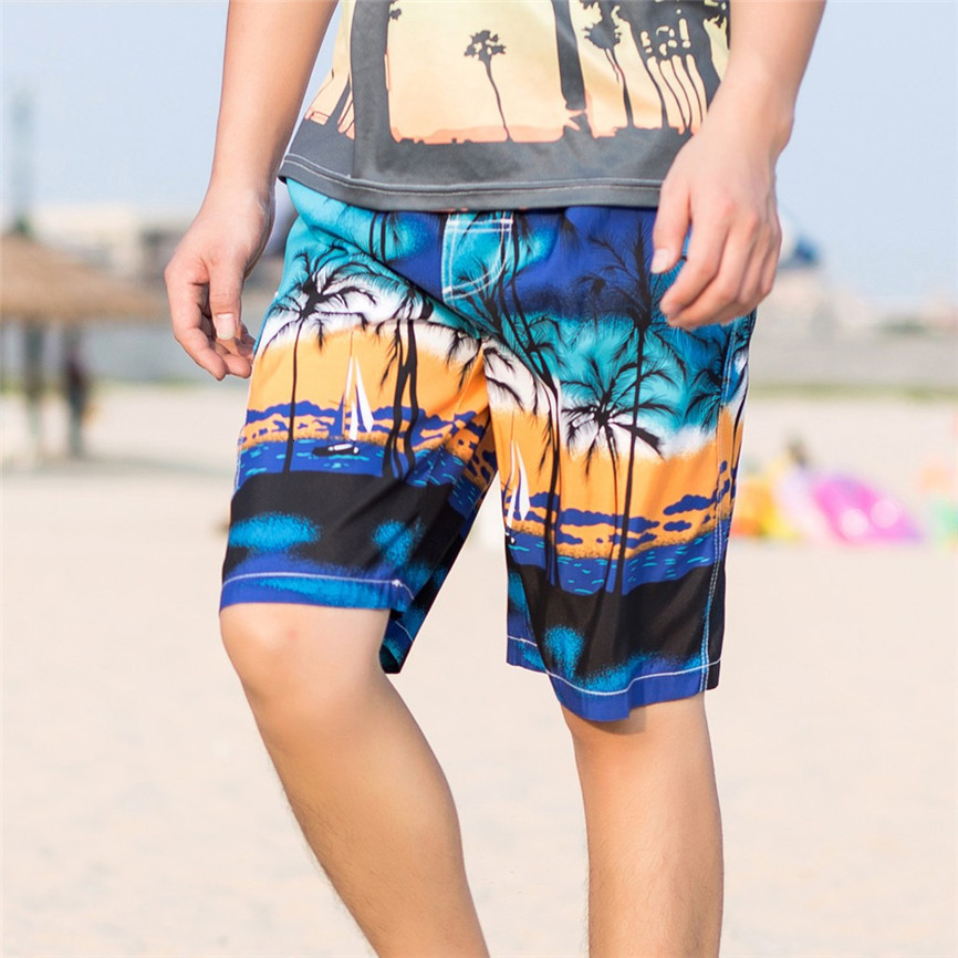 Men's Shorts Loose Men Hawaiian Trunks Quick Dry Beach Surfing Running Swimming Short Pant Men's Summer Casual Cotton Linen