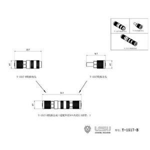 Image 3 - LESU connecteur de tuyau dhuile, tuyau métallique, pour camion, benne RC Tmy 1/14 bricolage, système hydraulique TH16513