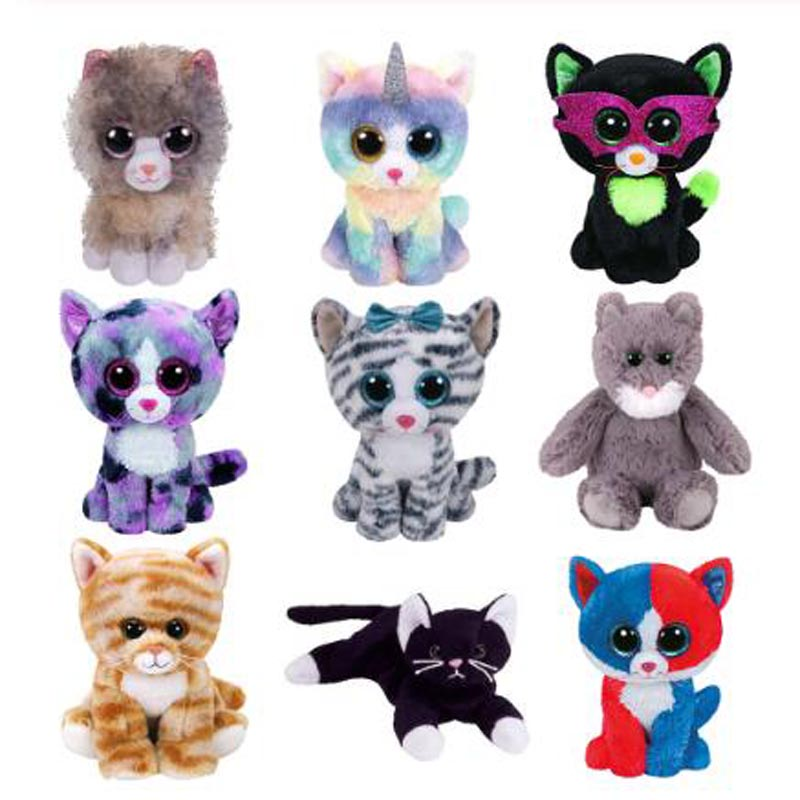 Ty Stuffed & Plush Animals Cat Series Toys for Children 15cm