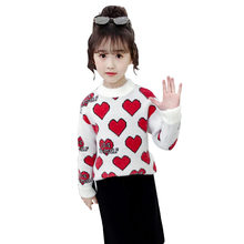 Get more info on the New Girls Sweater Cute Love Heart Print Sweater For Girls Autumn Kids Clothes Teens Kids Top Children's Costume For Teenage Girl