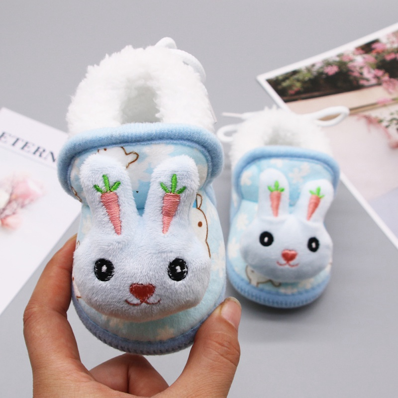 Baby Shoes New Autumn/Warm Newborn Girls Toddler Shoes First Walkers Booties Cotton Comfort Soft Anti-slip Warm Infant Crib Shoes